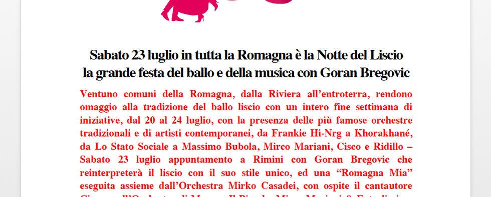 """Sabato 23 Luglio In Tutta La Romagna è La """"Notte Del Liscio"""""""