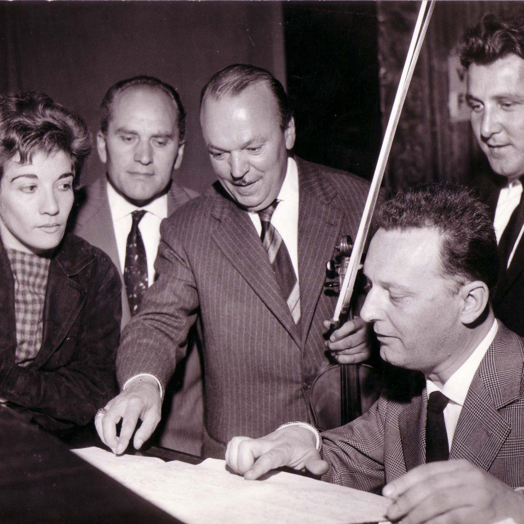 Orchestra Casadei 1958 In Studio Di Registrazione (1)